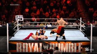 WWE 2K15 - 40-Man Royal Rumble Full Match Gameplay [HD]