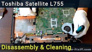 Як розібрати та чистка вентилятора ноутбука, L750, L755