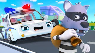 Police Car on Patrol | Fire Truck, Doctor | Learning Vehicles | Nursery Rhymes | Kids Songs |BabyBus