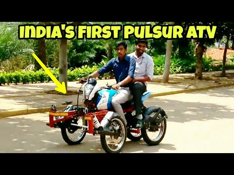 India's First Modified Pulsar ATV By Acharya Automobile Engineers