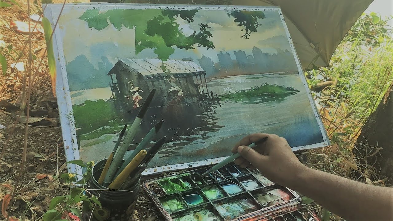 Outdoor Watercolor Painting Plein Air Tips For