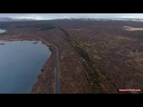 DaneWithADrone - Tectonic plate boundaries, Þingvellir, Iceland