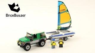 Lego City 60149 4x4 with Catamaran - Lego Speed Build