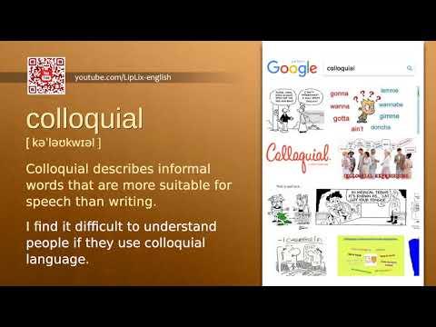 Colloquial : B2 level english vocabulary lesson, www.LipLix.com