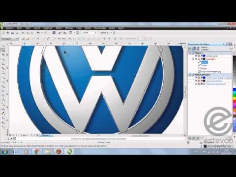 Volkswagen logo design tutorials in Corel Draw   Doovi