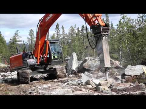 Hitachi excavators in Norway