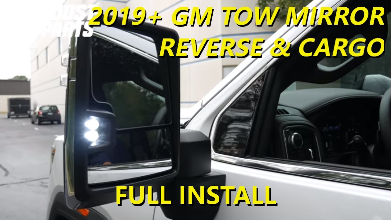 2019 2020 Gm Tow Mirror Reverse Cargo Install Dual Function Youtube