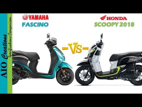 YAMAHA FASCINO VS HONDA SCOOPY 2018
