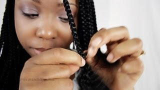 box braids step by step tutorial with single synthetic hair extensions part 2