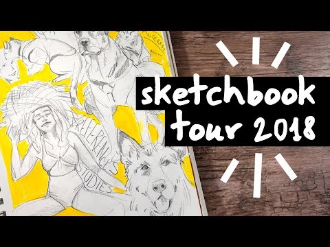 2018 Sketchbook Tour - Dogs, Faces, and More!