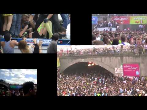 Love Parade, second anniversary, july 24, 60 witness videos combined, multiperspective