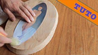 Comment transférer une photo sur du bois ?