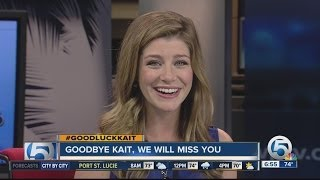 Meteorologist Kait Parker says goodbye to WPTV