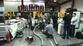 Team Lotus Car Fire-Up and Car Launch