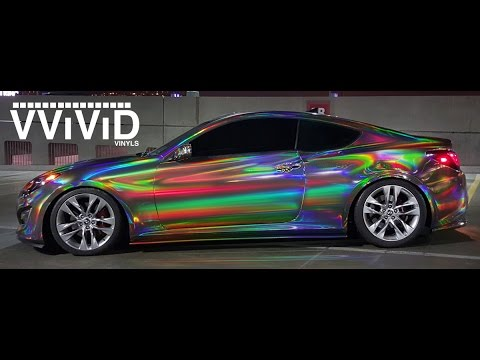 Vvivid Holographic Black Chrome Vinyl Wrap Night Walk Around Crazy