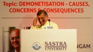 Repeat youtube video Demonetisation | Causes | Concerns & Consequences | Shri S Gurumurthy