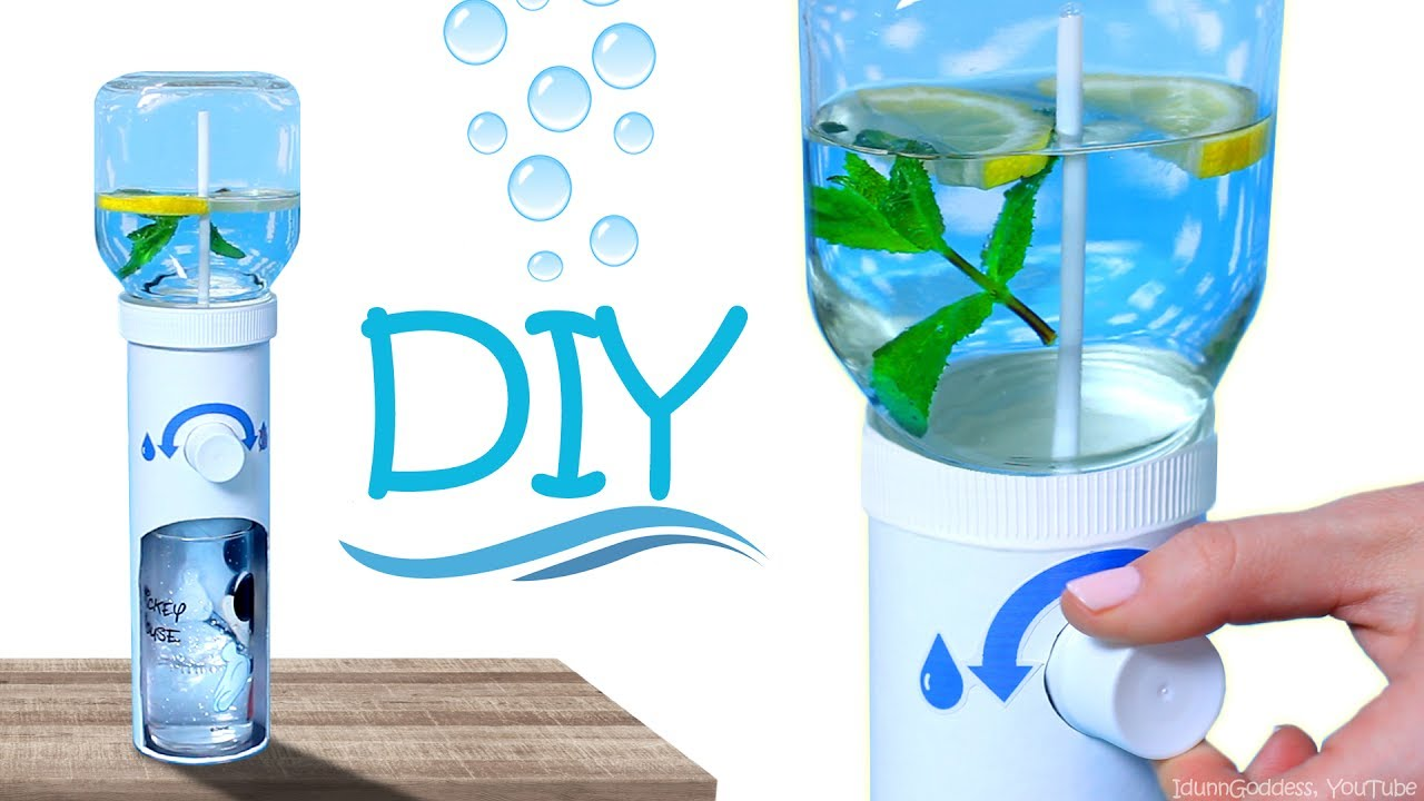 How To Make Working Water Dispenser Diy Desk Water