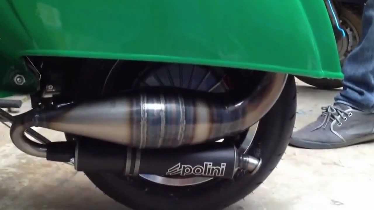 Vespa Racing Exhaust