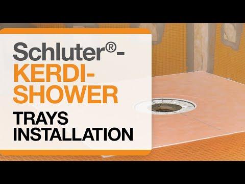 How to install Schluter®-KERDI-SHOWER Trays