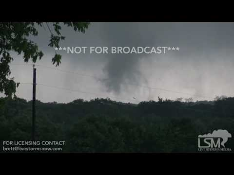 04-29-2017 Canton, TX - Violent Tornado Throwing Trees