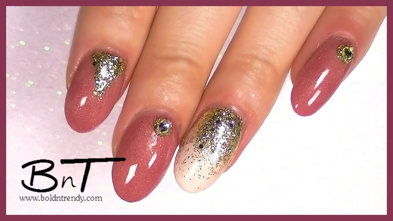 Natural Acrylic Nails - Design Change - Acrylic Overlay (E040) - YouTube