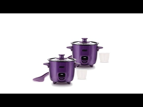 DASH 2pack Mini Rice Cookers With Recipes