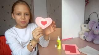 DIY Поделка валентинка своими руками на 14 февраля - День Святого Валентина