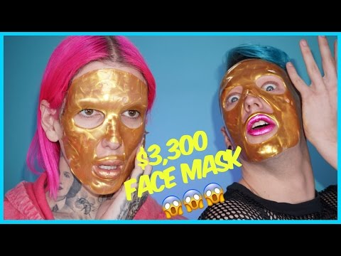 $3,300 GOLD FACE MASK??!! Review + Demo feat. Laganja Estranja thumbnail