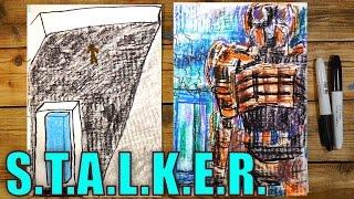 Рисуем Комнату (Куб) Желаний из S.T.A.L.K.E.R. и немного Сталкера)(Ваня любит видео игру Сталкер и мы решили сделать серию рисунков и роликов на тему Сталкера. Мы рисуем на..., 2016-02-16T12:11:34.000Z)