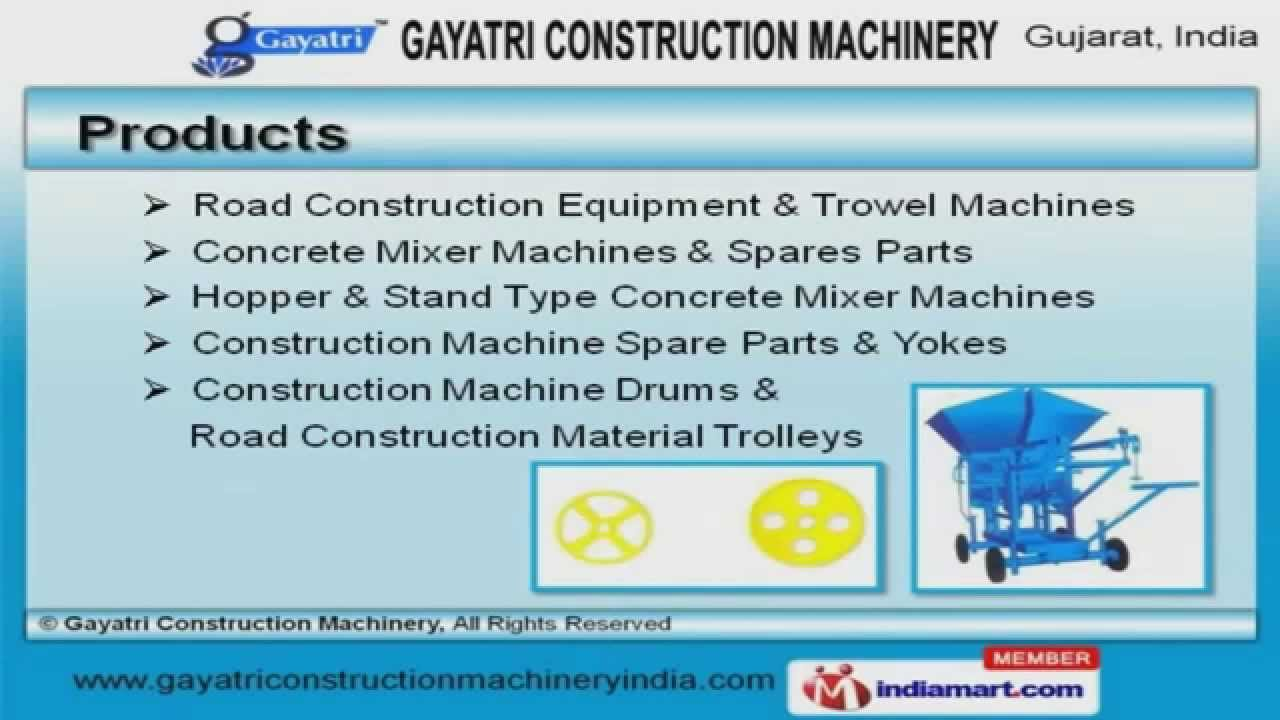 Concrete Mixer Machine Spare Parts by Gayatri Construction Machinery,  Ahmedabad