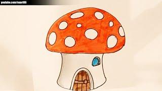 Como dibujar un hongo