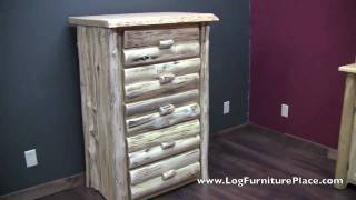 Cedar Lake Logger 5 Drawer Log Chest | Log Cabin Dresser From Logfurnitureplace.com