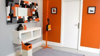 Gambar cover Decorar hall en naranja, gris y blanco - Decogarden