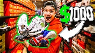 THE $1000 NIKE OUTLET CHALLENGE!!