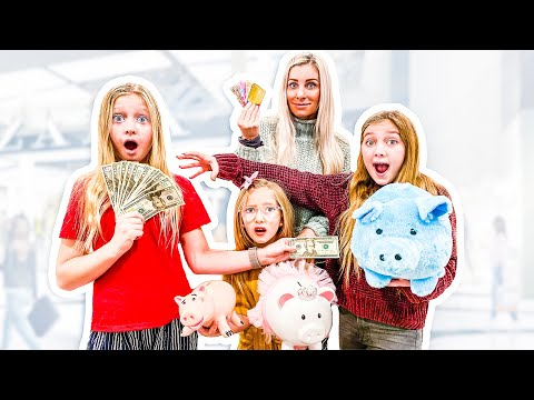 We SPEND each other's PIGGY BANKs CASH and Bank Accounts! Challenge! *unfair*