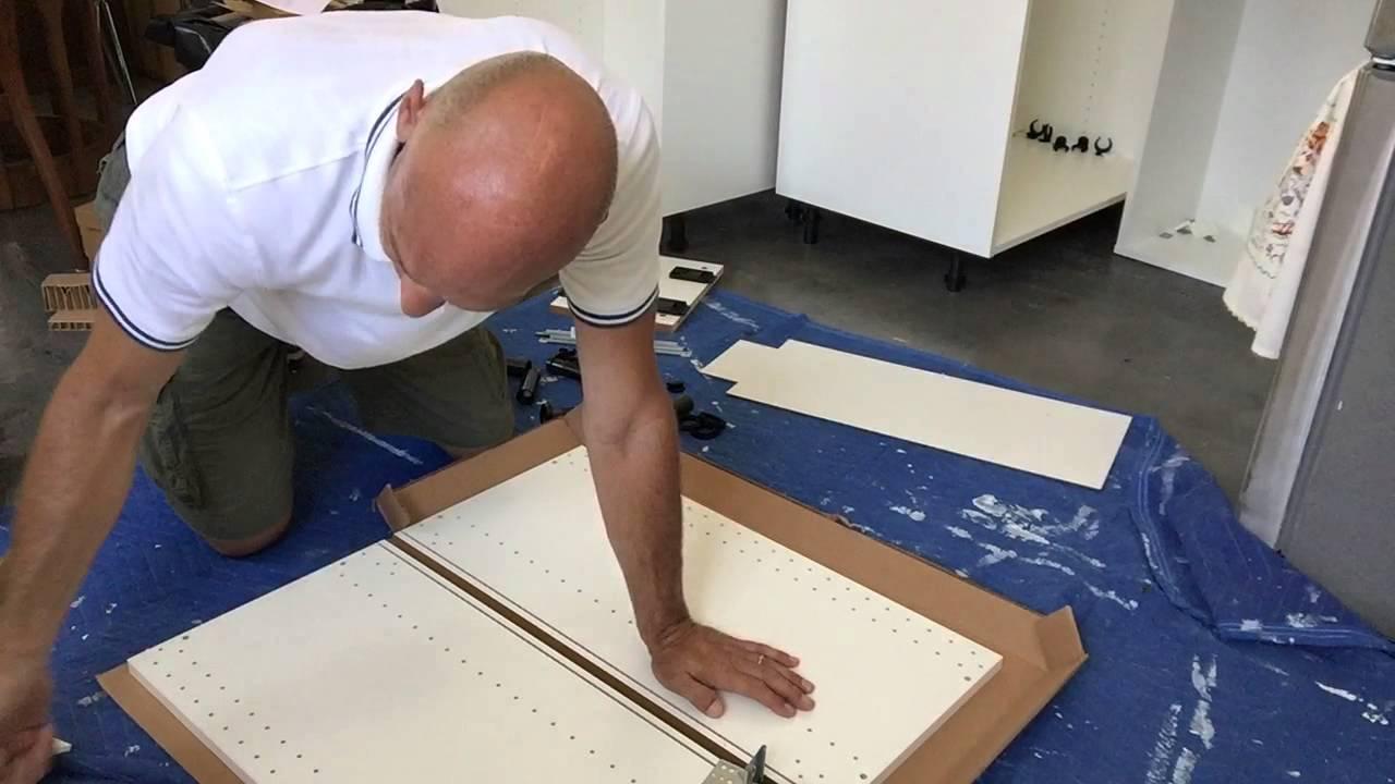 Ikea Sektion Cabinet Assembly 12x15x30 Base Cabinet Youtube