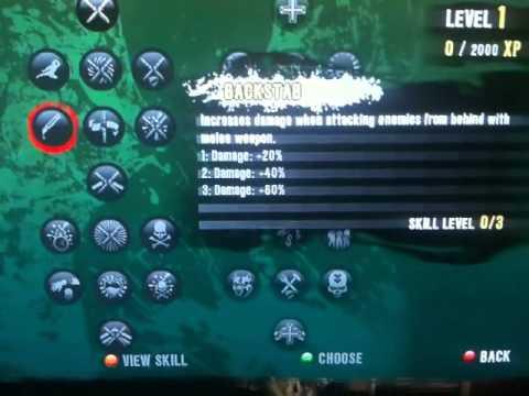 Dead Island Xian Skill Tree