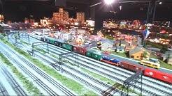 Huge Model Railroad Display Merchants Square Mall
