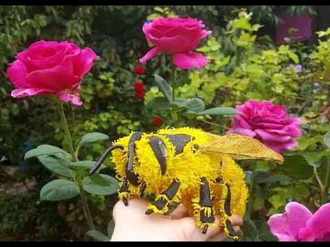 Пчёлка для больших цветов!( Мастер Класс) Bee For Giant Flowers!(Master Class)