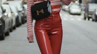 Модные кожаные брюки С чем носить кожаные женские брюки Красивые фото