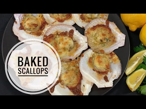 The Best Baked Scallops| Insanely delish
