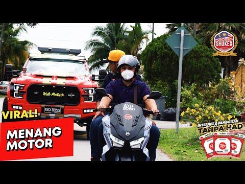 Menang motor Top 1 lelaki rakan niaga Halo Telco.
