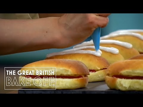 Iced bun disaster | The Great British Bake Off from YouTube · Duration:  3 minutes 35 seconds