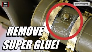 How to remove super glue from a model - VMS Glue Remove CA Debonder tutorial