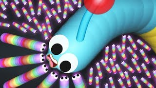 Slither.io Голодный червяк Слизарио  Игровой мультик про червячков