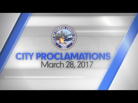 City Proclamations March 28, 2017