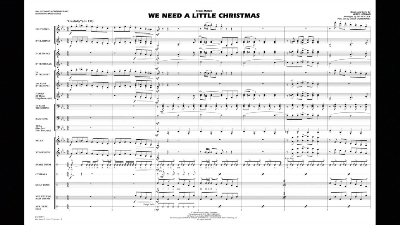Need A Little Christmas.We Need A Little Christmas By Jerry Herman Arr Jay Bocook