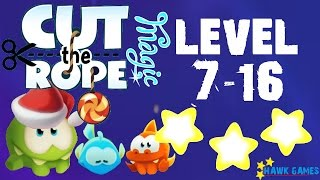 Cut the Rope Magic - Snow Hill Level 7-16 (3 stars)
