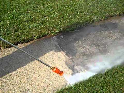 Fox valley power wash concrete sidewalk cleaning youtube for Concrete sidewalk cleaner