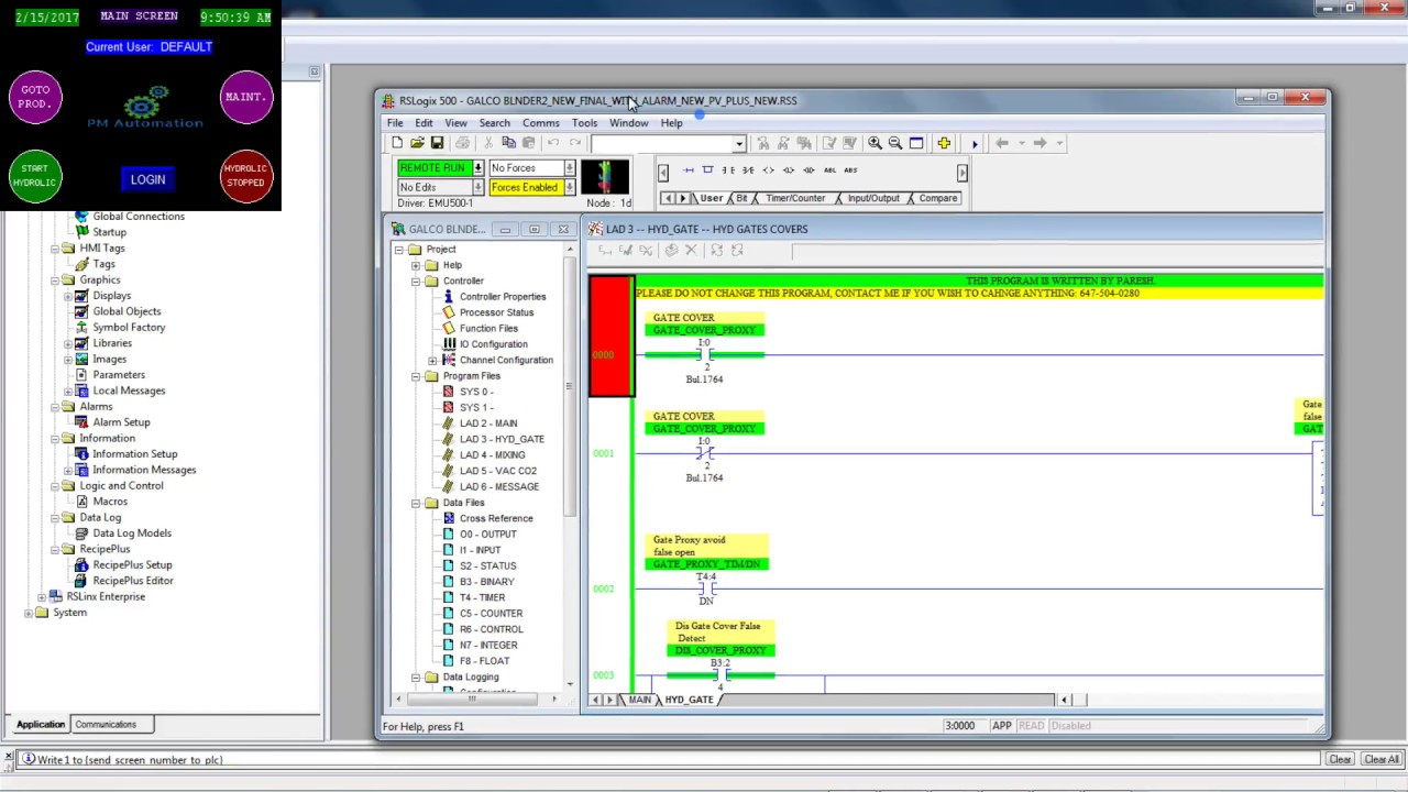 Simulating Factory Talk View ME application with RsLogix 500 and RsLogix  Emulate 500